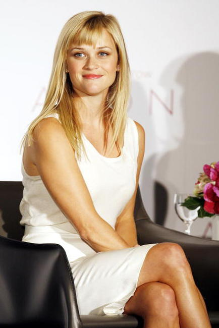 Reese Witherspoon at a press conference to announce she is named Avon Global Ambassador at Beverly Hills.